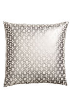 Patterned cushion cover - Natural white/Silver - Home All | H&M CN 1