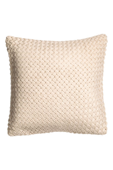 Moss-knit cushion cover - Light beige - Home All | H&M CN 1