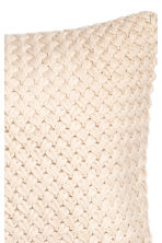 Moss-knit cushion cover - Light beige - Home All | H&M CN 3