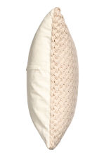 Moss-knit cushion cover - Light beige - Home All | H&M CN 2