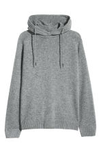 Wool-blend hooded jumper - Grey marl - Men | H&M CN 2