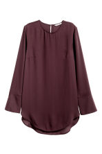 Long-sleeved blouse - Plum - Ladies | H&M CN 2