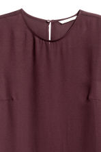 Long-sleeved blouse - Plum - Ladies | H&M CN 3