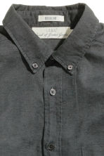 Linen-blend shirt Regular fit - Dark grey - Men | H&M CN 2