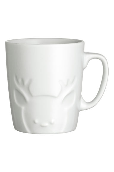 Porcelain mug - White/Reindeer - Home All | H&M GB 1