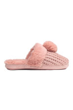 Soft slippers - Old rose - Ladies | H&M CN 1