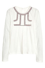 Crinkled top - White - Kids | H&M CN 2