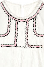 Crinkled top - White - Kids | H&M CN 3