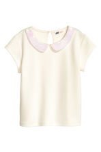 Top with a sequined collar - White - Kids | H&M CN 2