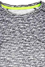 Short-sleeved running top - Dark grey/Patterned - Men | H&M CN 3