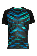 Short-sleeved running top - Black/Blue - Men | H&M CN 2