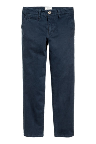 Generous fit Chinos - Dark blue - Kids | H&M CN 1
