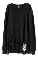 Pullover trashed - Nero -  | H&M IT 2