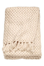 Knitted blanket - Light beige - Home All | H&M CN 2