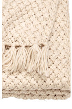 Knitted blanket - Light beige - Home All | H&M CN 6