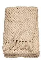 Knitted blanket - Light beige - Home All | H&M CN 3