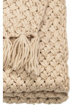 Knitted blanket - Light beige - Home All | H&M CN 7