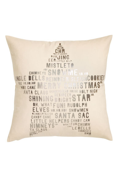 Christmas-motif cushion cover - Natural white/Star - Home All | H&M CN 1