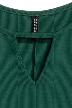 Ribbed jersey dress - Emerald green - Ladies | H&M GB 3