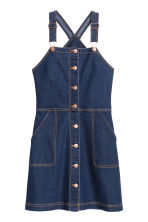 Denim dungaree dress - Dark denim blue - Ladies | H&M CN 2