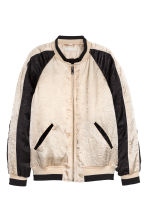 Satin bomber jacket - Light beige - Ladies | H&M CN 2