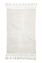 Glittery blanket - White/Silver - Home All | H&M CN 2