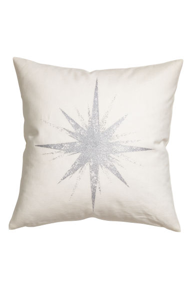 Star-motif cushion cover - White - Home All | H&M CN 1