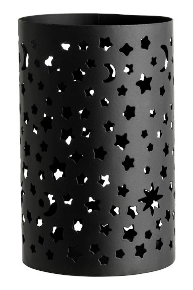 Large metal tealight holder - Black/Stars - Home All | H&M CN 1