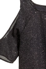 Glittery cold shoulder top - Black/Glitter - Kids | H&M CN 3