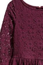Lace dress - Burgundy - Kids | H&M CN 3