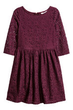 Lace dress - Burgundy - Kids | H&M CN 2