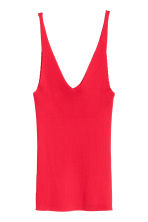 V-neck top - Red - Ladies | H&M CN 2