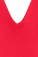 V-neck top - Red - Ladies | H&M CN 3