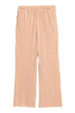 Pleated trousers - Powder beige - Ladies | H&M GB 2