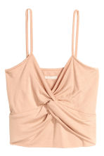 Short modal top - Powder beige - Ladies | H&M CN 2