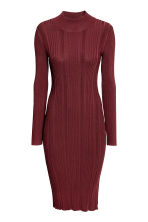 Ribbed dress - Burgundy - Ladies | H&M CN 2