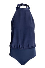 Halterneck body - Dark blue - Ladies | H&M CN 2
