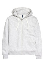 Hooded jacket - Light grey marl - Men | H&M 2