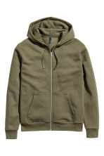 Hooded jacket - Khaki green - Men | H&M 2
