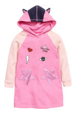 Printed sweatshirt dress - Pink/Stars -  | H&M CN 2