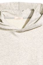 Oversized hooded top - Light grey marl - Ladies | H&M CN 3