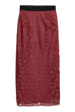 Lace skirt - Burgundy -  | H&M CN 2
