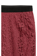 Lace skirt - Burgundy -  | H&M CN 3