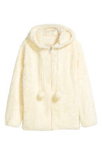 Hooded plush jacket - Natural white - Ladies | H&M CN 2