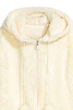 Hooded plush jacket - Natural white - Ladies | H&M CN 3