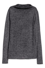 Turtleneck top - Dark grey marl - Ladies | H&M 2