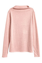 Turtleneck top - Powder pink marl - Ladies | H&M CN 3