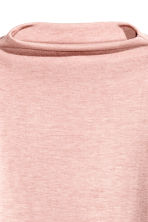 Turtleneck top - Powder pink marl - Ladies | H&M 4