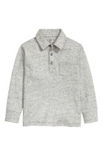 Long-sleeved top - Grey marl - Kids | H&M CN 2