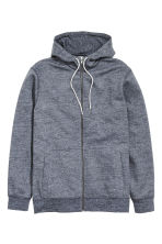 Marled hooded jacket - Blue - Men | H&M CN 2